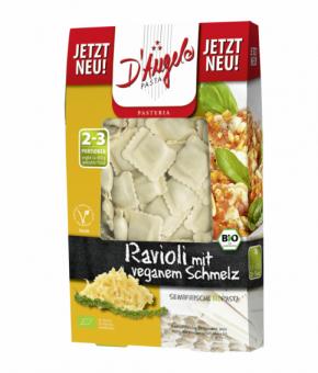 Ravioli com recheio de queijo Vegan-Bio