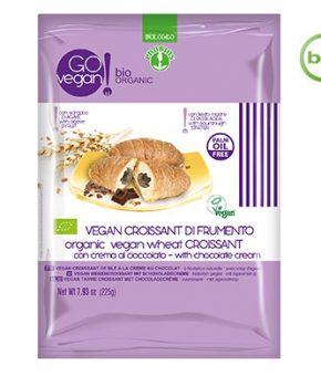 Croissant de trigo com creme de chocolate Bio, 225g