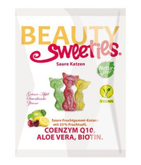 Gomas ácidas Beautysweeties Gatos - 125g (sem gelatina)