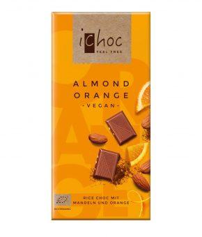 Chocolate iChoc Amêndoas e Laranja 80g