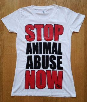 STOP ANIMAL ABUSE NOW T-SHIRT