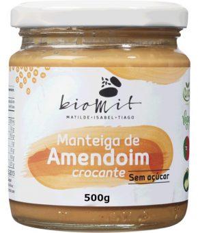 Manteiga de amendoim crocante Bio 500g