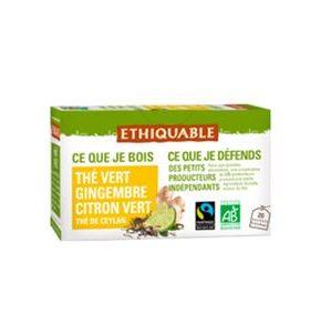 Chá verde com Lima e gengibre Bio / Comércio Justo