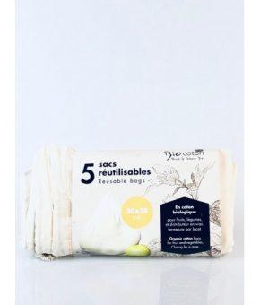 Sacos de algodão biológico Reutilizáveis com cordão