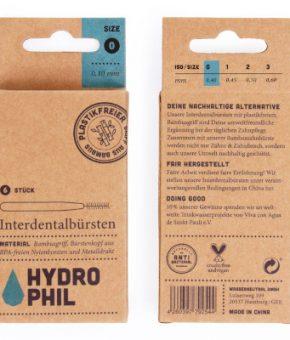 Escovas interdentais de bambu Hydrophil