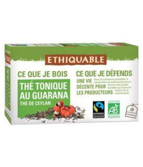 Chá tónico com guaraná Bio e Comércio Justo
