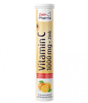Vitamina C 1000mg + Zinco 10mg (20 pastilhas efervescentes)
